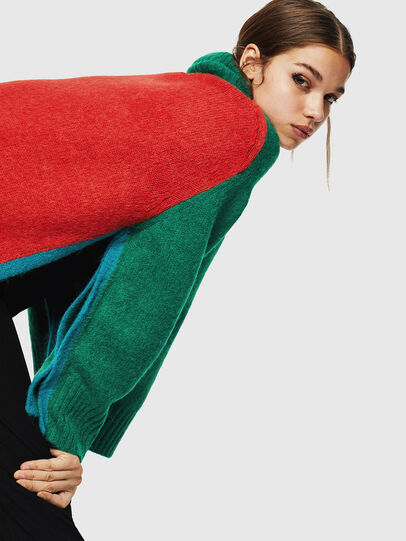 Diesel - M-PERSIA, Green/Red - Sweaters - Image 4