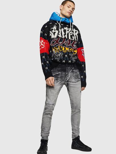 Diesel - D-Reeft JoggJeans 084AH, Black/Dark Grey - Jeans - Image 7