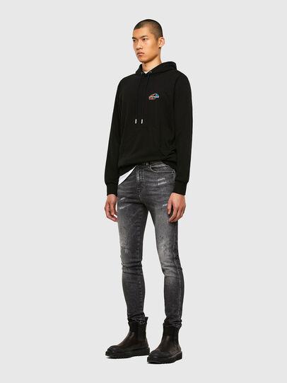 Diesel - S-GIRK-HOOD-K22, Black - Sweatshirts - Image 4