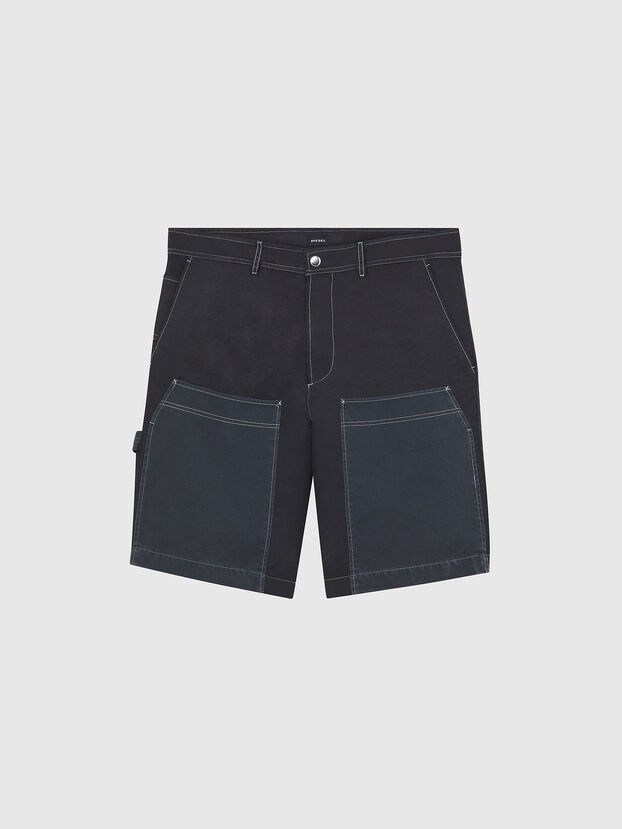 P-TRENT-SHORT, Black/Blue - Shorts