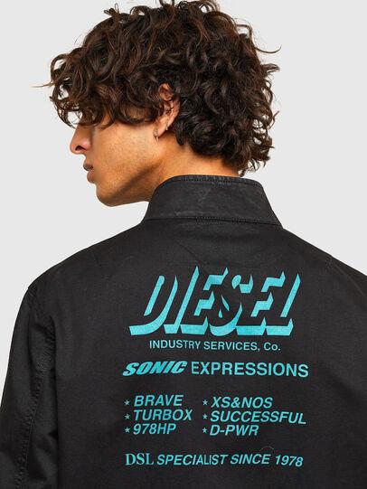 Diesel - J-HALLS-PRINT, Black - Jackets - Image 4