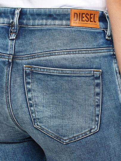 Diesel - Slandy High Skinny Jeans 009PT, Light Blue - Jeans - Image 3