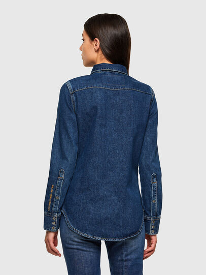 Diesel - DE-RINGY, Dark Blue - Denim Shirts - Image 2