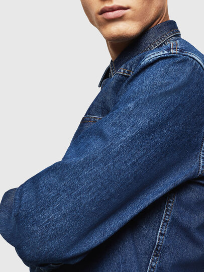 Diesel - D-EAST-P, Medium Blue - Denim Shirts - Image 5