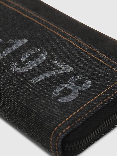 Diesel - 24 ZIP, Black Jeans - Zip-Round Wallets - Image 3