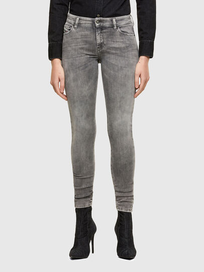 Diesel - Slandy Skinny Jeans 069RS, Black/Dark Grey - Jeans - Image 1