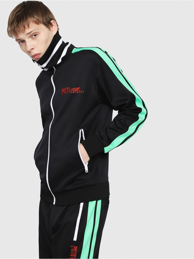 S-HISOKA, Black/Green - Sweatshirts