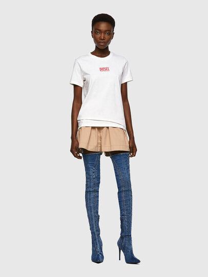 Diesel - T-SILY-ECOSMALLOGO, Pink/White - T-Shirts - Image 4