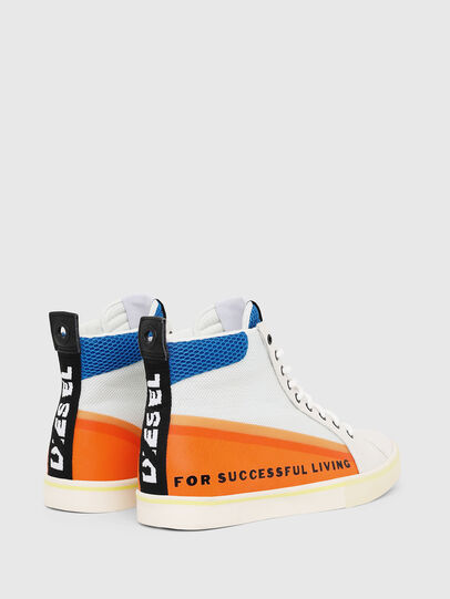 Diesel - S-DVELOWS MID, White/Orange - Sneakers - Image 3