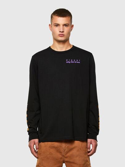 Diesel - T-JUST-LS-N64, Black/Violet - T-Shirts - Image 1