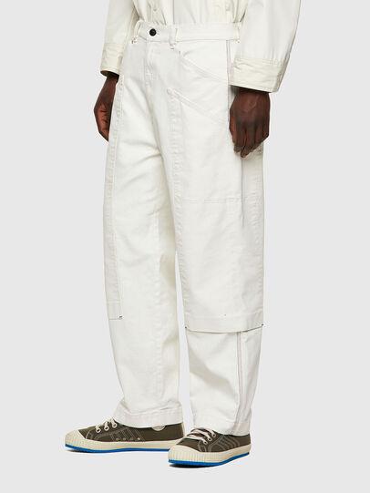 Diesel - D-Franky Straight Jeans 009ZJ, White - Jeans - Image 3