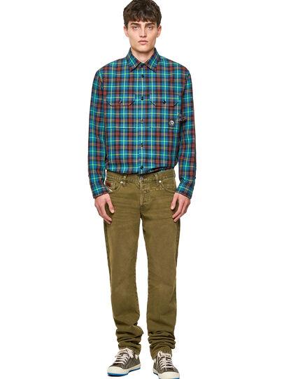 Diesel - D-Kras Slim Jeans 09A35, Military Green - Jeans - Image 5