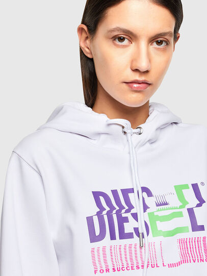Diesel - F-ANG-HOOD-K24, White - Sweatshirts - Image 3
