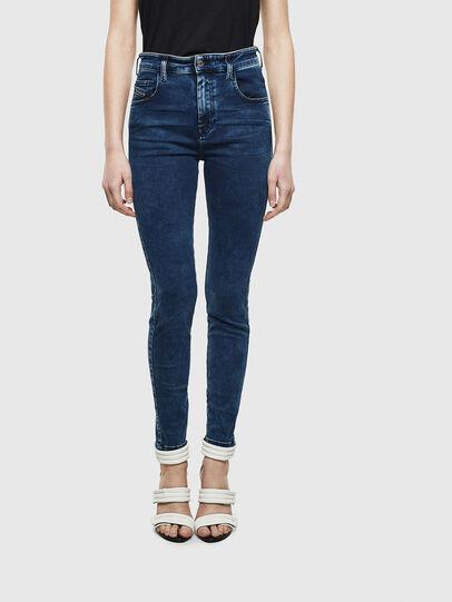 Diesel - Slandy High Skinny Jeans 0094Z, Dark Blue - Jeans - Image 1