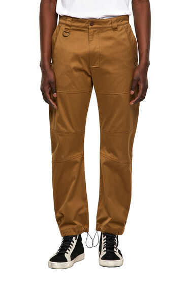 Green Label pants with panelled design