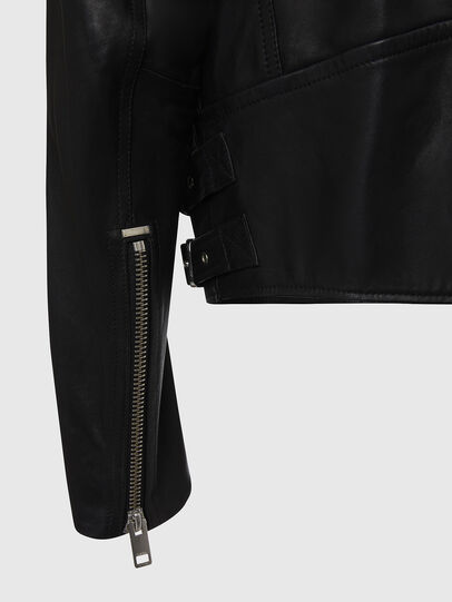 Diesel - L-GARRETT, Black - Leather jackets - Image 5