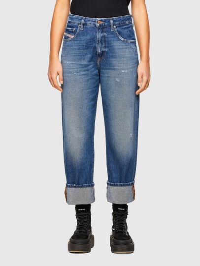 Diesel - D-Reggy Straight Jeans 009RV, Medium Blue - Jeans - Image 1