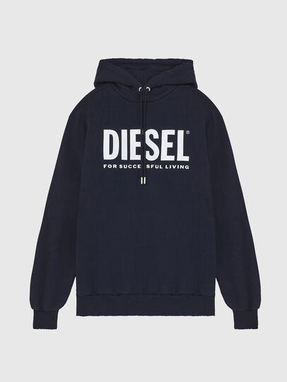 Diesel - S-GIR-HOOD-DIVISION-, Dark Blue - Sweatshirts - Image 1