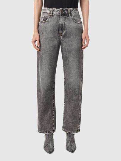 Diesel - D-Reggy Straight Jeans 09B13, Black/Dark grey - Jeans - Image 1