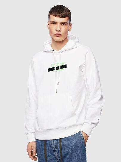 Diesel - S-GIRK-HOOD-S1, White - Sweatshirts - Image 1
