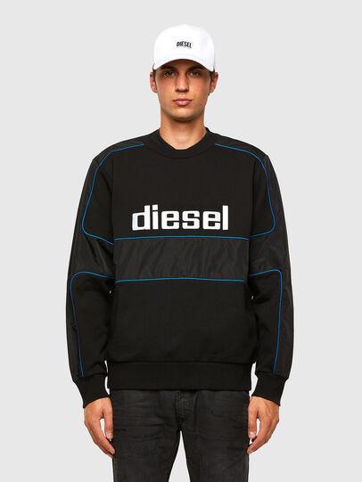 Diesel - S-LAIN, Black - Sweatshirts - Image 1