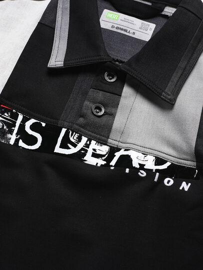 Diesel - D-BNHILL-S, Black - Sweatshirts - Image 3