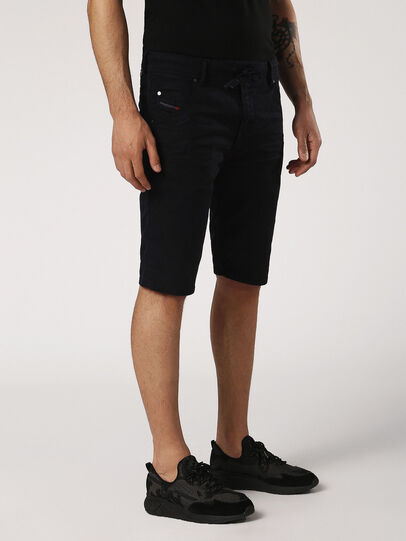 Diesel - KROOSHORT JOGGJEANS, Black Jeans - Shorts - Image 4