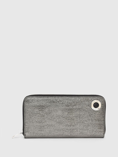 Diesel - 24 ZIP, Grey - Zip-Round Wallets - Image 1