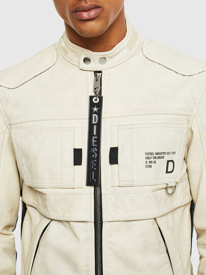 Diesel - L-DIXON, White - Leather jackets - Image 3