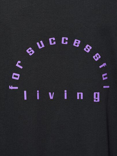 Diesel - T-JUST-LS-N64, Black/Violet - T-Shirts - Image 4