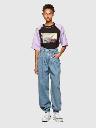 Diesel - T-SPO, Black/Violet - T-Shirts - Image 4