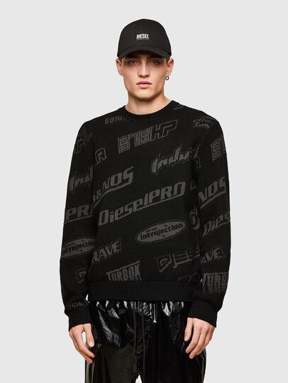 Diesel - K-NICKEL, Black - Sweaters - Image 1