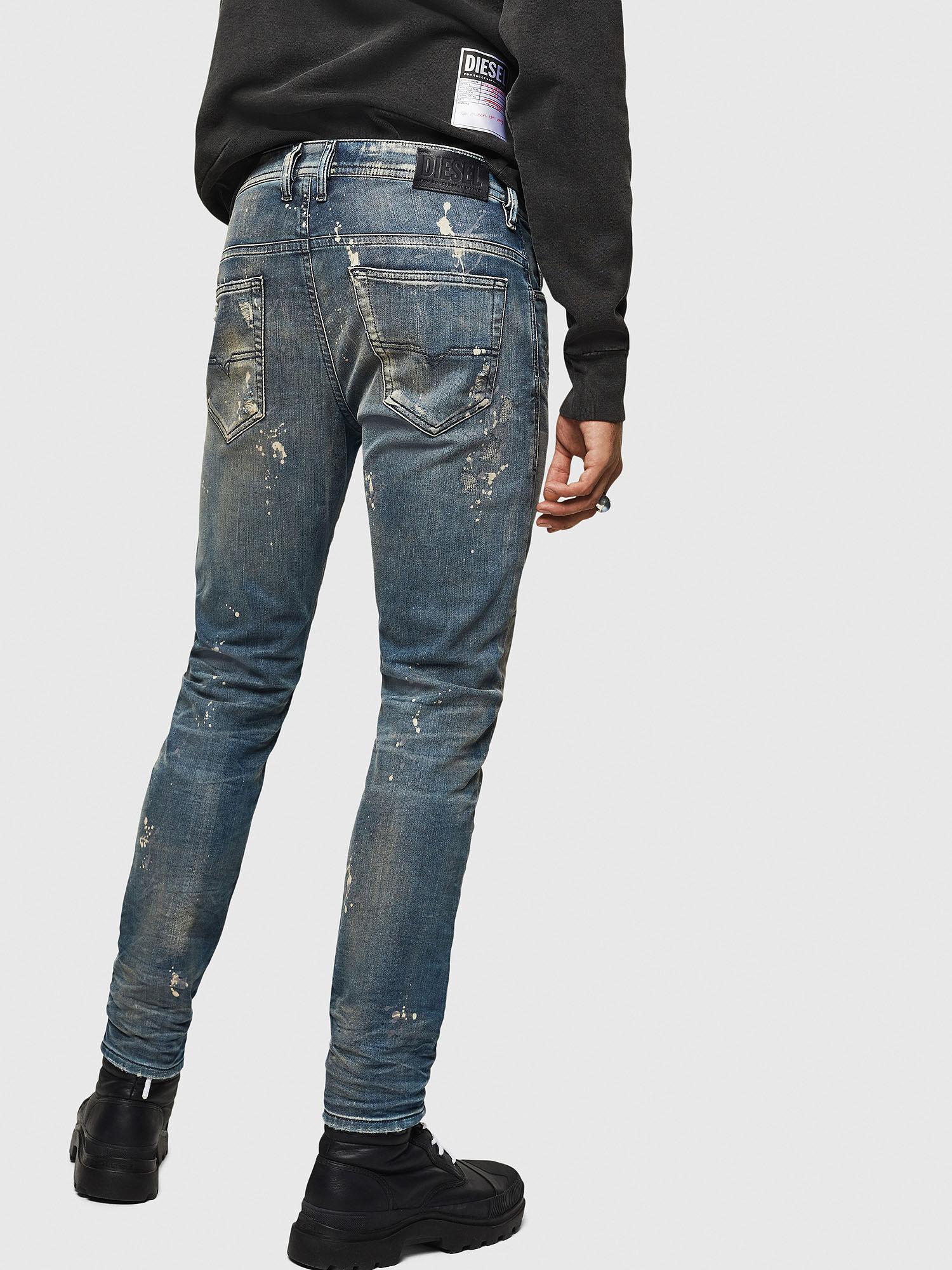 Diesel Thommer Mid Stone Wash Slim Fit Jeans