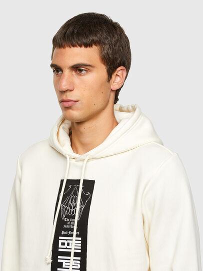 Diesel - S-GIRK-HOOD-N3, White - Sweatshirts - Image 3
