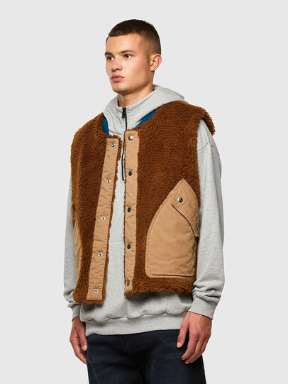 Diesel - W-HEROESY, Blue/Brown - Winter Jackets - Image 4