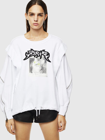 Diesel - F-HOSY, White - Sweatshirts - Image 1