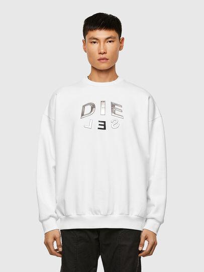Diesel - S-MART-A90, White - Sweatshirts - Image 1