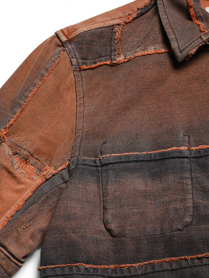 Diesel - D-COACINQUE5, Orange - Denim Jackets - Image 8