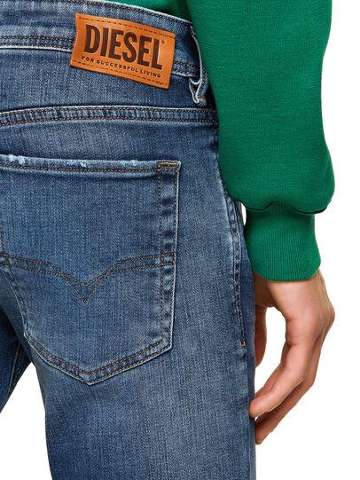 Diesel - Sleenker Skinny Jeans 009PN, Medium Blue - Jeans - Image 4
