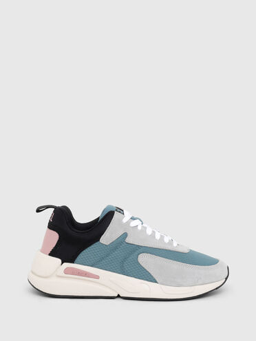 Sneakers in ripstop and suede