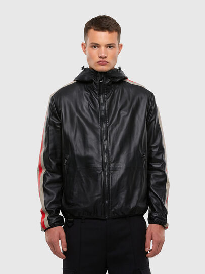 Diesel - L-MATHIAS, Black - Leather jackets - Image 1