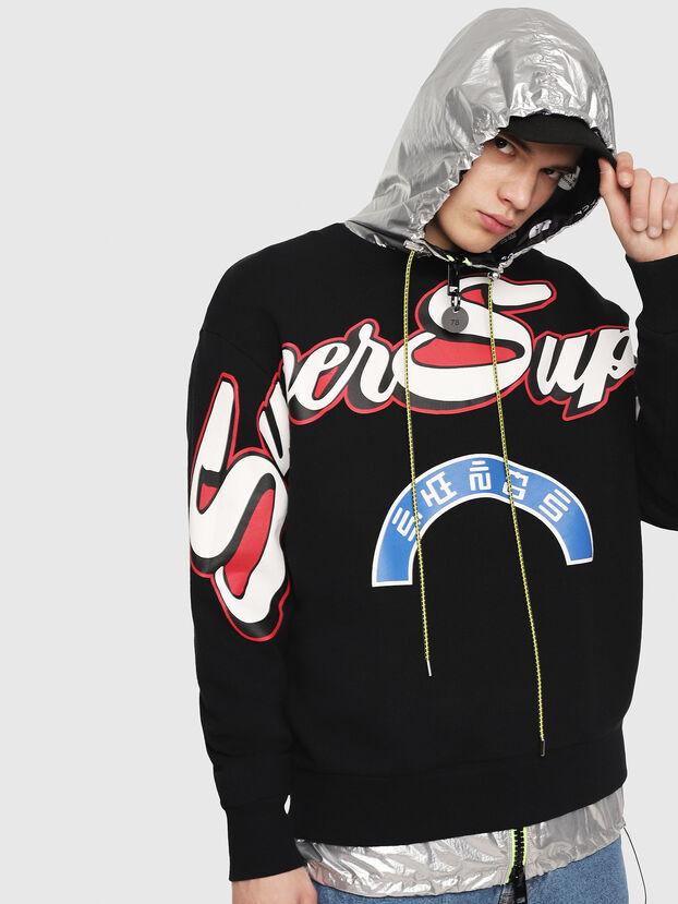 S-BAY-RADIO-PRINT, Black - Sweatshirts