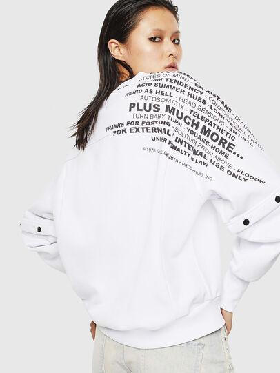 Diesel - F-AYALA, White - Sweatshirts - Image 2