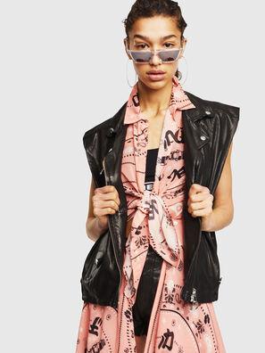 L-DROPPET, Black - Leather jackets