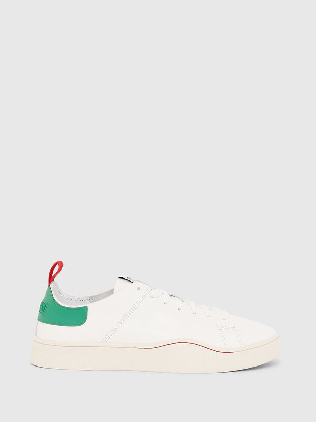 S-CLEVER LS, White/Green - Sneakers