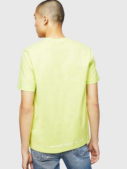 Diesel - T-JUST-B31, Yellow Fluo - T-Shirts - Image 2
