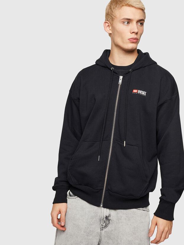 S-ALBY-ZIP-DIV, Black - Sweatshirts