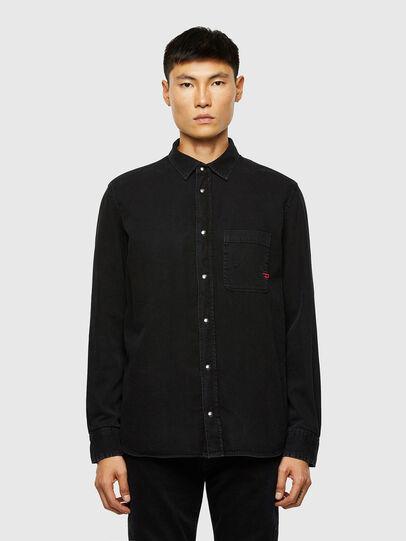 Diesel - D-WEAR-B1, Black - Denim Shirts - Image 1