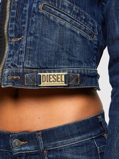 Diesel - DE-BLONDY, Dark Blue - Denim Jackets - Image 5