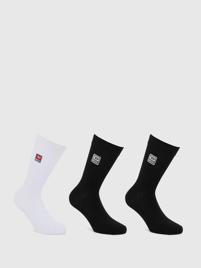 Diesel - SKM-RAY-THREEPACK, Black/White - Socks - Image 1
